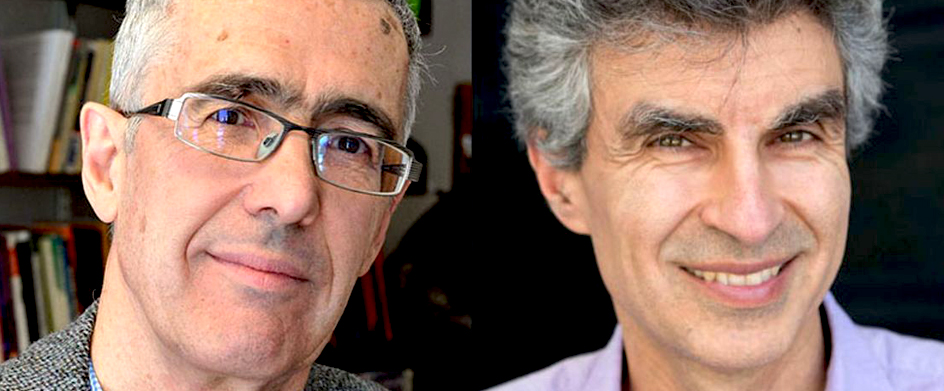 André Blais and Yoshua Bengio, winners of the prestigious Killam Prize 2019.  CREDIT : AMÉLIE PHILIBERT