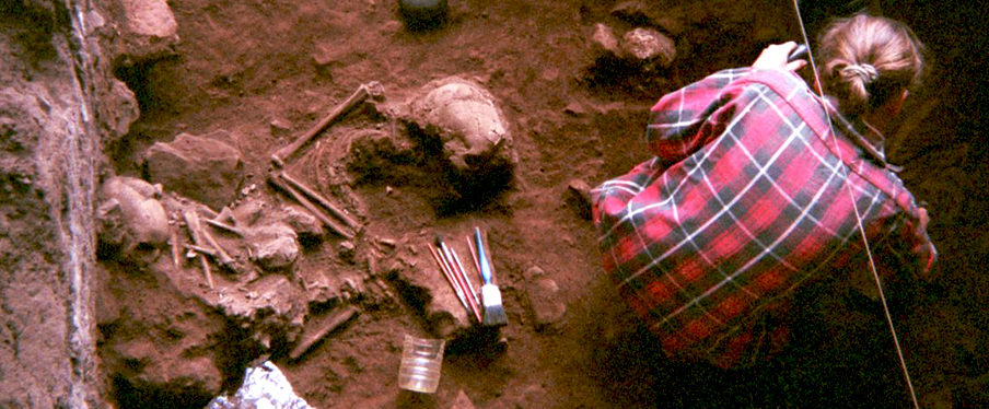 Ancient DNA reveals that these two individuals and another pair of children buried three millennia later at Shum Laka were from a stable population...CREDIT : ISABELLE RIBOT