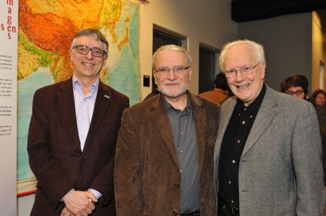 Le 12 mars 2014, Serge Brochu assistait  au lancement de la collection «Parcours numériques»  des Presses de l'Université de Montréal. De gauche à droite sur la photo: Messieurs Brochu, del Busso et Le Blanc.
