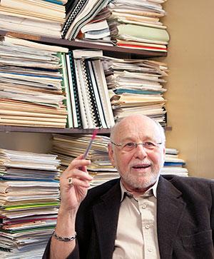 Jacques Légaré lors d'une entrevue accordée au Journal Forum en janvier 2014.
