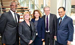 Dr Patrice Roy, Andrea Leblanc, Sylvie Belleville, Rémi Quirion et Dr Renaldo Battista.