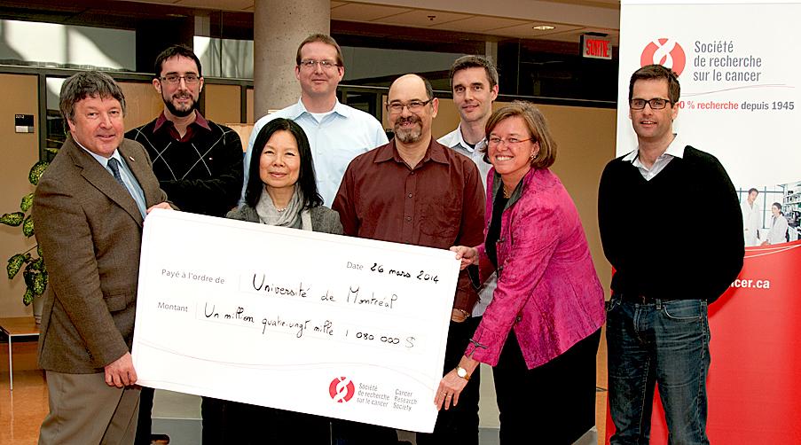 1 080 000 $ de subvention de la Société de recherche sur le cancer (SRC) pour 9 projets menés par des professeurs de l'UdeM  - © Université de Montréal