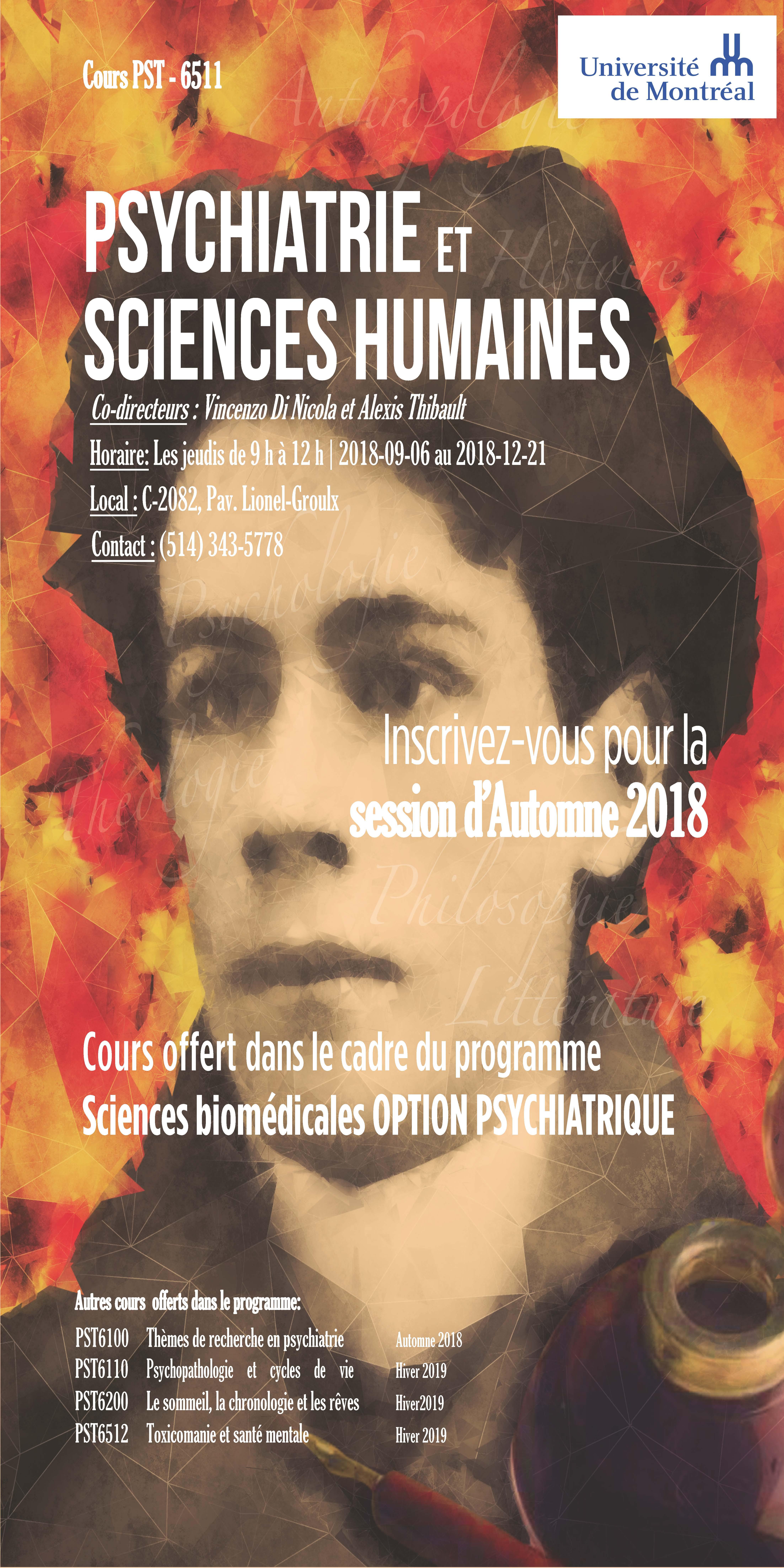 Affiche pour le cours siglé PST6511 UdeM - Vincenzo Di Nicola