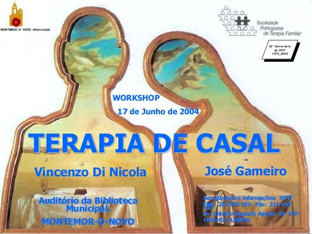 Affiche pour le 25e anniversaire de la Société portugaise de thérapie familiale avec V Di Nicola et José Gameiro - V Di Nicola