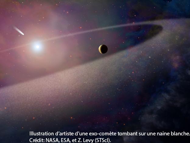 Des scientifiques ont été témoins pour la première fois de la désagrégation d'un objet de composition semblable à une comète et de son plongeon dans l'atmosphère de son étoile, une naine blanche.