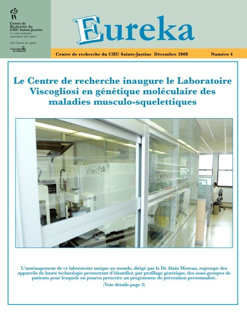 Lancement du laboratoire en 2008 - CHU Sainte-Justine